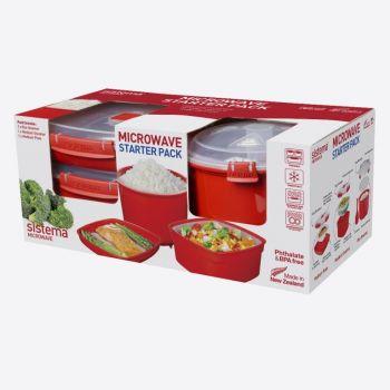Sistema Microwave paquet avec plat moy - cuis vap & cuis à riz (par 4pcs)