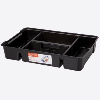 Sistema Storage tiroir organiseur noir (par 6pcs)