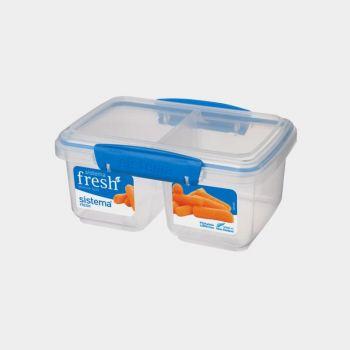 Sistema Fresh boîte à 2 compartiments Split bleu 850ml (par 6pcs)