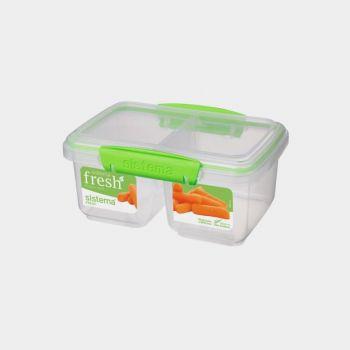 Sistema Fresh boîte à 2 compartiments Split vert 850ml (par 6pcs)