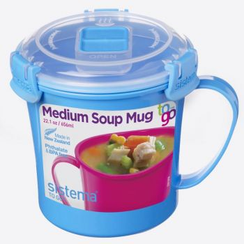 Sistema Microwave Colour mug à soupe bleu 656ml (par 12pcs)