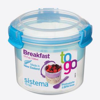 Sistema To Go bol à petit déjeuner à compartiment bleu 530ml (par 12pcs)