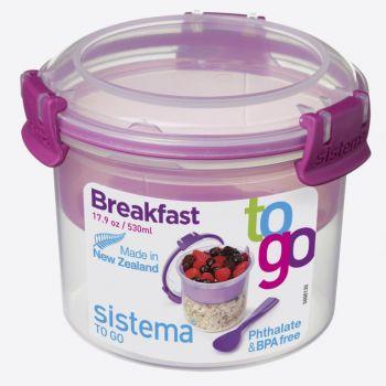 Sistema To Go bol à petit déjeuner à compartiment rose 530ml (par 12pcs)