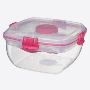 Sistema To Go bol à salade avec couverts rose 1.1L (par 12pcs)
