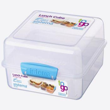 Sistema To Go boîte à lunch Cube bleu 1.4L (par 12pcs)