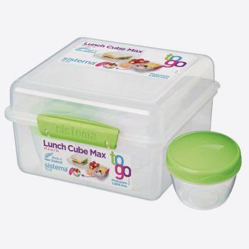 Sistema To Go boîte à lunch et pot à yaourt Cube Max vert citron 2L (par 6pcs)