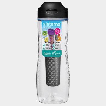 Sistema Hydrate bouteille Tritan Infuser noir 800ml (par 6pcs)
