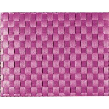Saleen set de table tressé large en matière synthétique violet 30x40cm