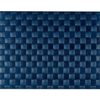 Saleen set de table tressé large en matière synthétique bleu foncé 30x40cm
