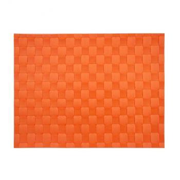 Saleen set de table tressé large en matière synthétique rouge orange 30x40cm