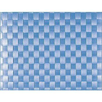 Saleen set de table tressé large en matière synthétique bleu marine 30x40cm