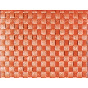 Saleen set de table tressé large en matière synthétique orange 30x40cm
