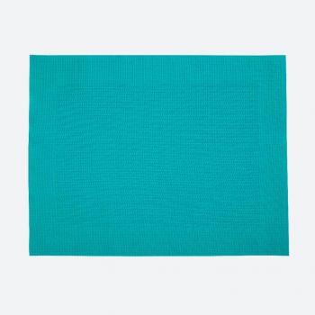 Saleen fin set de table tressé en matière synthétique bleu aqua 32x42cm