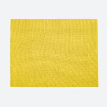 Saleen fin set de table tressé en matière synthétique jaune 32x42cm