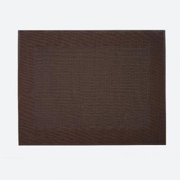 Saleen Rahmen fin set de table tressé en matière synthétique brun 32x42cm