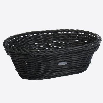 Saleen corbeille ovale tressée en matière synthétique noir 25x17x8.5cm