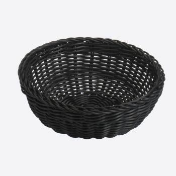 Saleen corbeille ronde tressée en matière synthétique noir Ø 23cm H 9cm