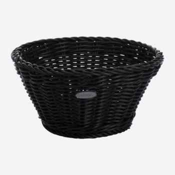 Saleen corbeille ronde tressée en matière synthétique noir Ø 18cm H 10cm