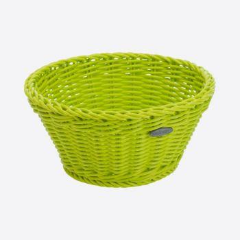 Saleen corbeille ronde tressée en matière synthétique vert citron Ø 18cm H 10cm