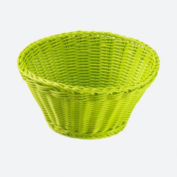 Saleen corbeille ronde tressée en matière synthétique vert citron Ø 22cm