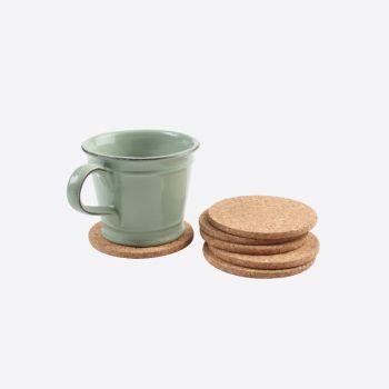 T&G Woodware set de 6 sous-verres en liège ø 10cm H 0.6cm