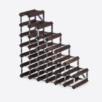 Traditional Wine Rack Co. Stairs porte-bouteilles escalier chêne brûlé 61.2x22.8x61.2cm