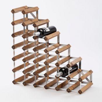 Traditional Wine Rack Co. Stairs porte-bouteilles escalier chêne foncé 61.2x22.8x61.2cm