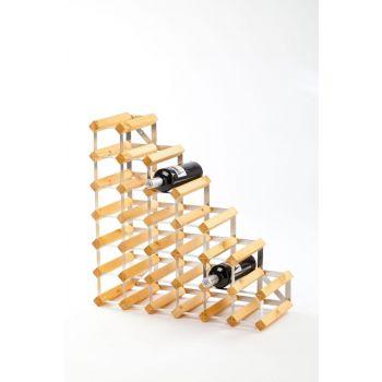 Traditional Wine Rack Co. Stairs porte-bouteilles escalier chêne clair 61.2x22.8x61.2cm