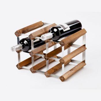 Traditional Wine Rack Co. porte-bouteilles 9 bouteilles chêne foncé 32.4x22.8x22.8cm