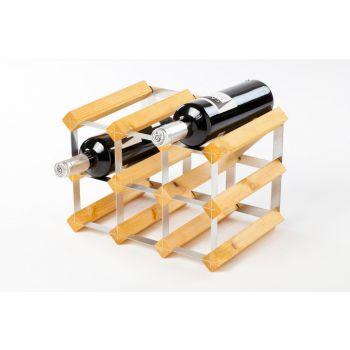 Traditional Wine Rack Co. porte-bouteilles 9 bouteilles chêne clair 32.4x22.8x22.8cm