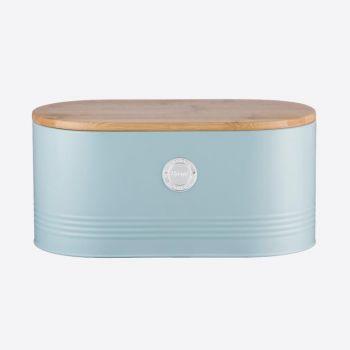Typhoon Living boîte de conservation pour pain bleu clair 33.5x16x18cm