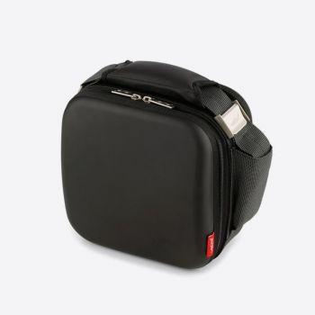 Valira Satin sac isotherme carré noir avec 2 boites de conservation 750ml et 500ml