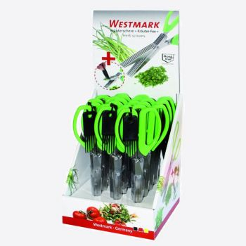Westmark ciseaux à herbes vert 20x7.6x1.9cm (12pcs/disp.)
