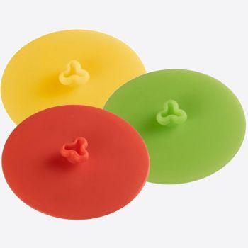 Westmark couvercle pour verre en silicone rouge; vert ou jaune ø 10cm (6 ass.)