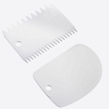 Westmark set de 2 lèche-plats en matière synthétique blanc 8.7x12.2x0.3cm