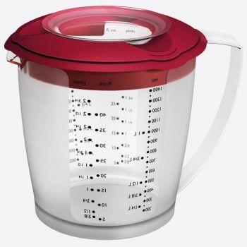 Westmark Helena verre à mesurer avec couvercle en matière synthétique rouge 1.4L