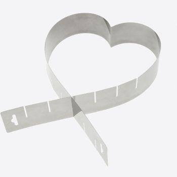 Westmark moule à gâteau en forme de cœur réglable en inox 45x5x1.3cm