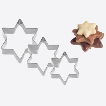 Westmark set de 3 emporte-pièces en inox étoile 4; 5 en 6cm