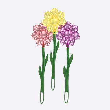 Westmark tapette à mouche fleur rouge; violet ou jaune 48.5cm (100pcs/disp.)
