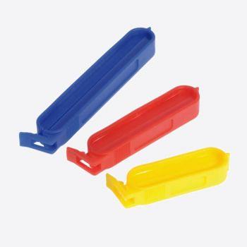 Westmark set de 10 clips à sachet jaune; rouge en bleu 6; 8 en 10 cm