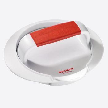 Westmark presse à hamburger en matière synthétique blanc et rouge 16x14.3x5.7cm