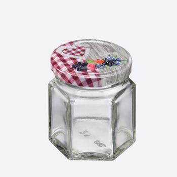 Westmark set de 8 bocaux hexagonaux avec couvercle à visser 45ml