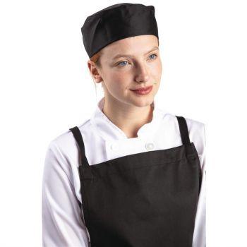 Calot de cuisine Whites noir XL