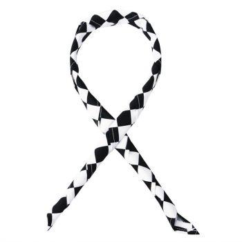 Tour de cou Whites grands carreaux noirs et blancs