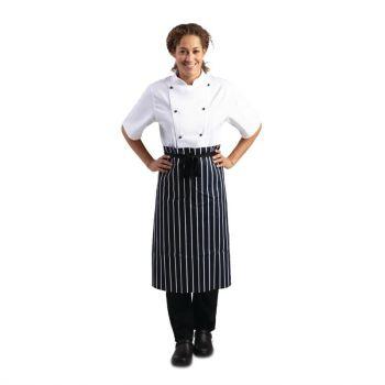 Tablier de cuisine Whites rayé bleu et blanc