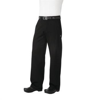 Pantalon de cuisine mixte Chef Works Professionnel chevrons noirs XL