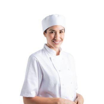 Calot de cuisine Cool Vent Chef Works blanc