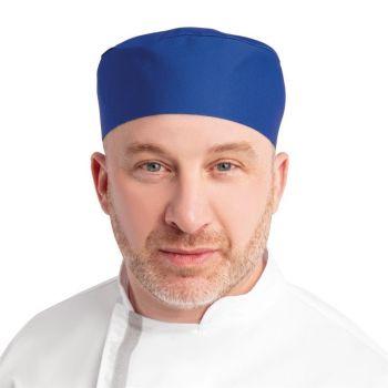 Calot de cuisine Whites bleu roi