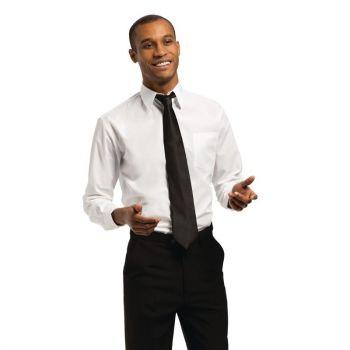 Chemise mixte Uniform Works manches longues blanche S