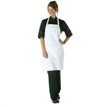 Tablier bavette Chef Works blanc